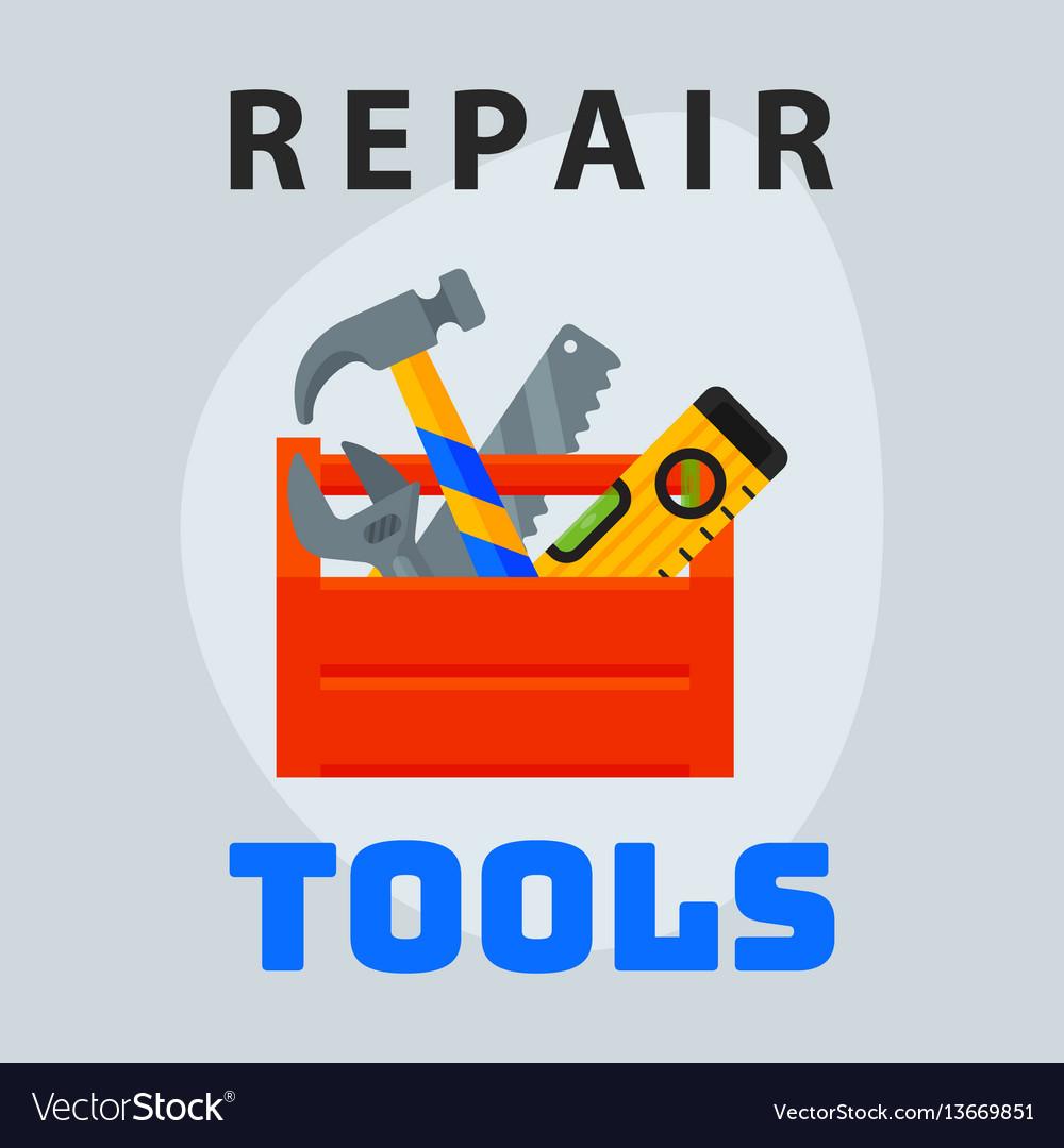 Repair tools box icon creative graphic design logo