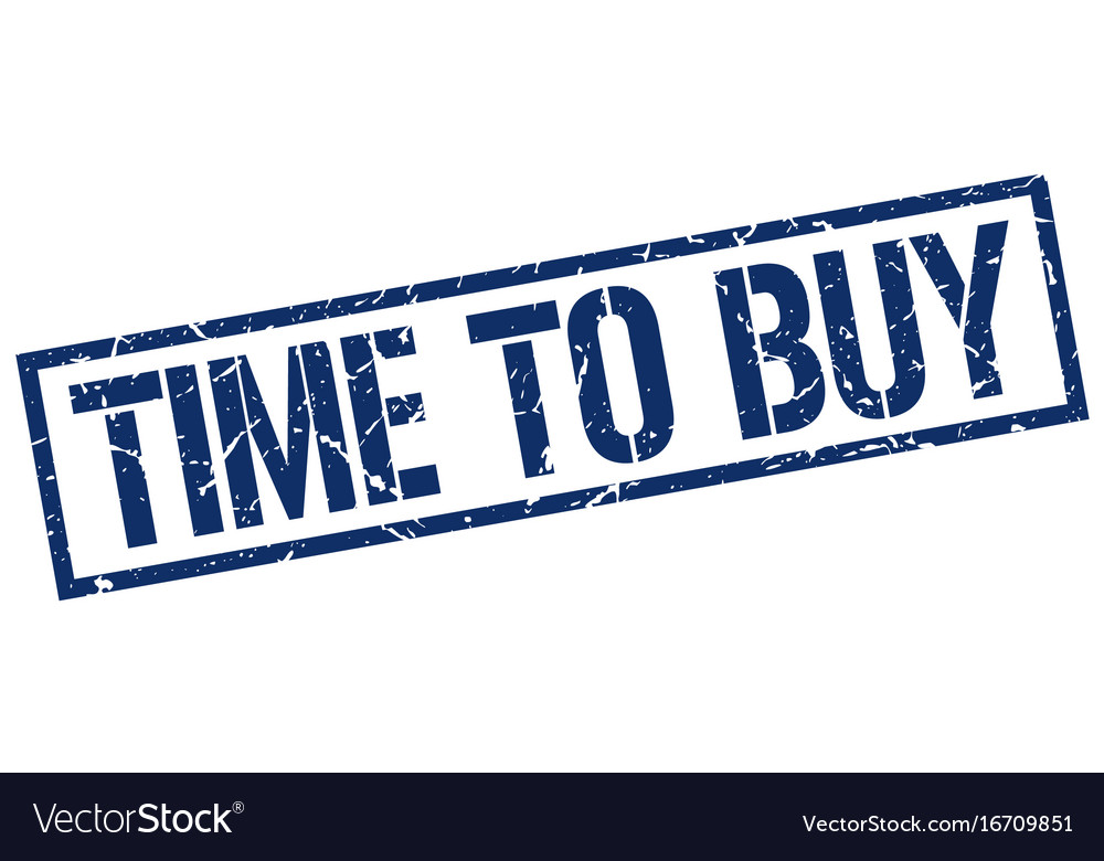 Time to buy stamp vector image