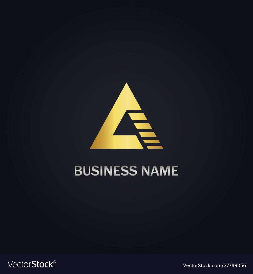 A triangle shape company logo