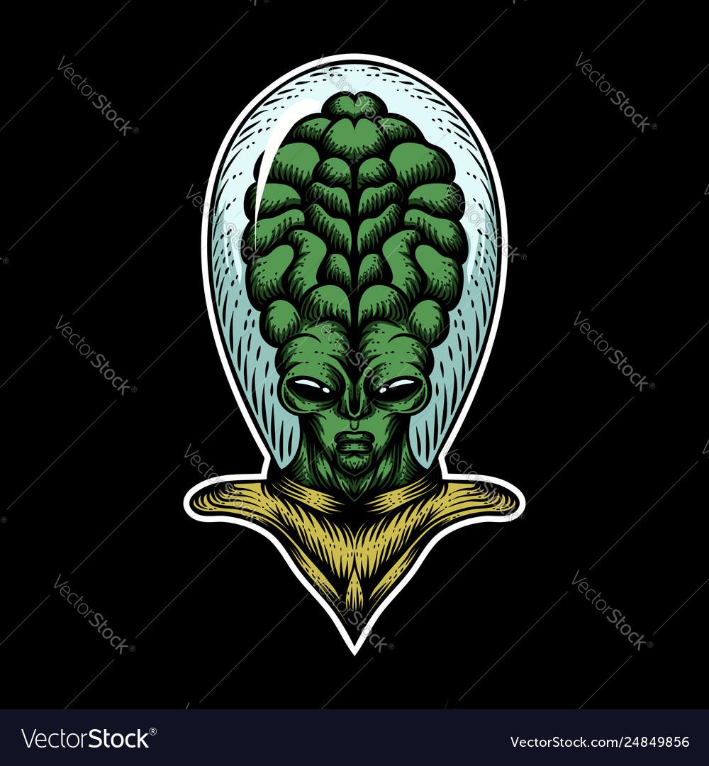 Alien big head
