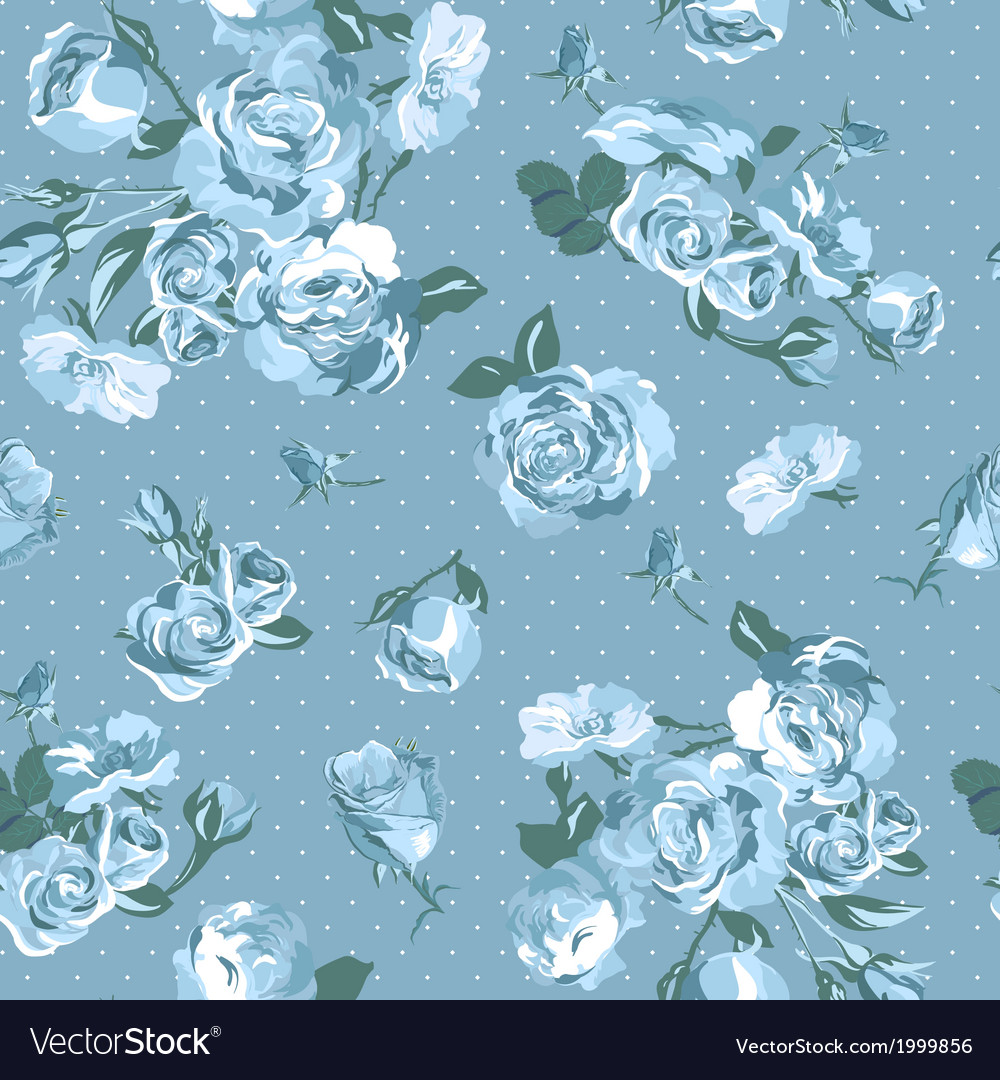 Beautiful Seamless Vintage Background with Roses