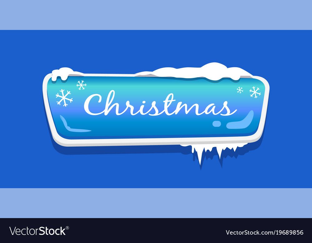 Christmas web push button icon covered snow