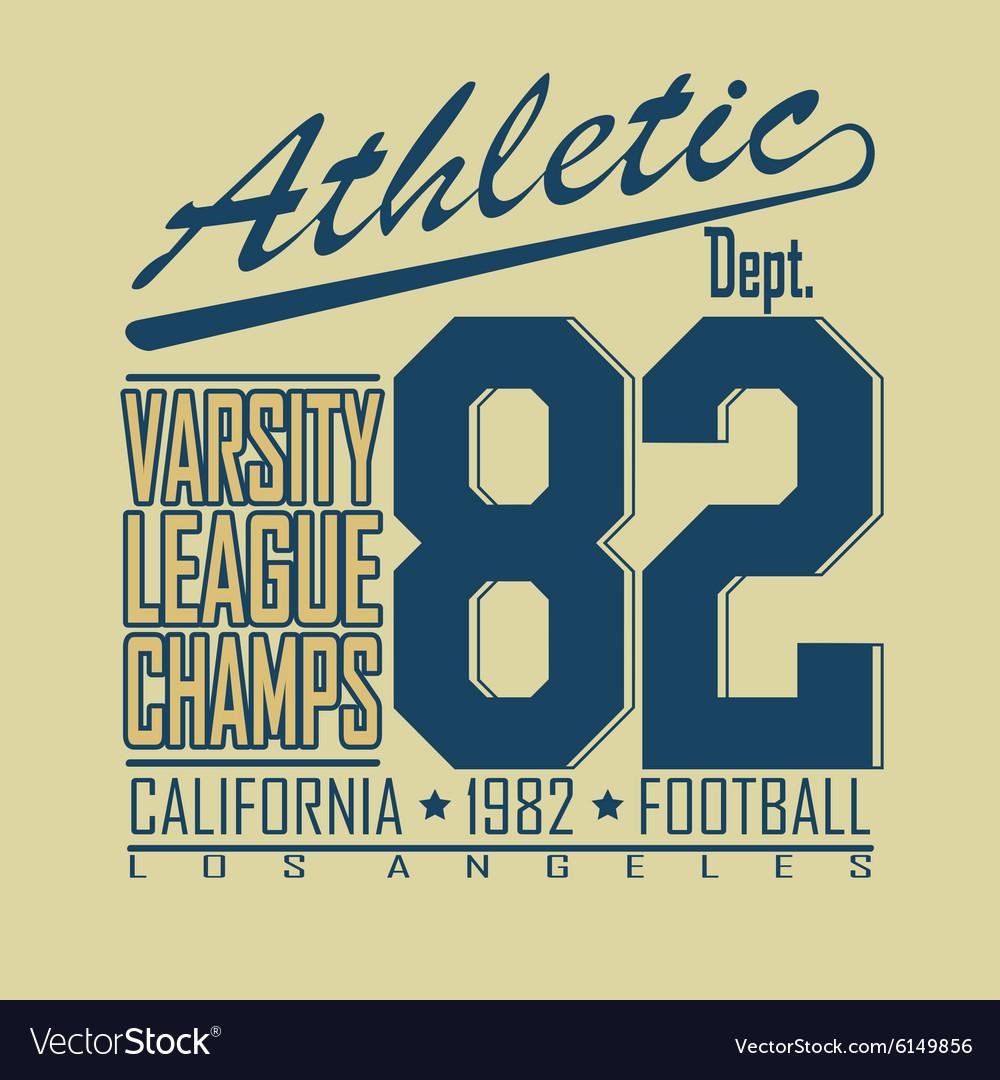 Football t-shirt fashion design graphics vector image