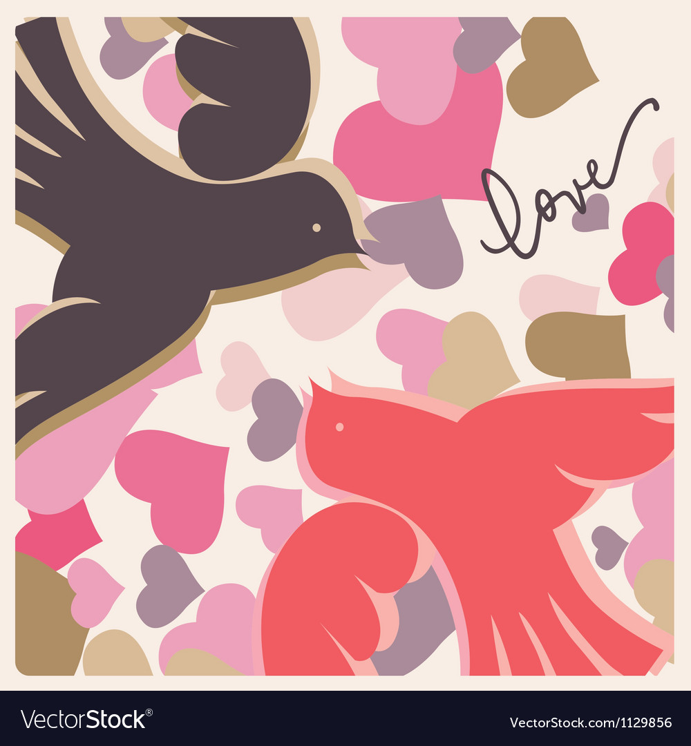 Kissing pigeons valentine poster