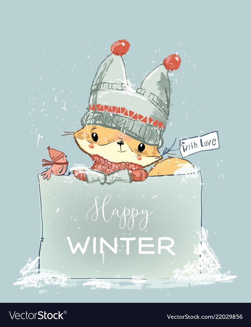 Little winter fox