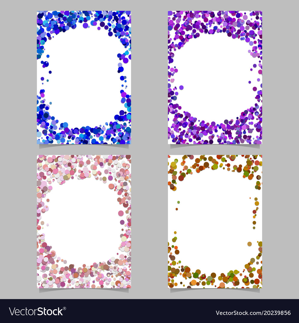 Random dot background round brochure border