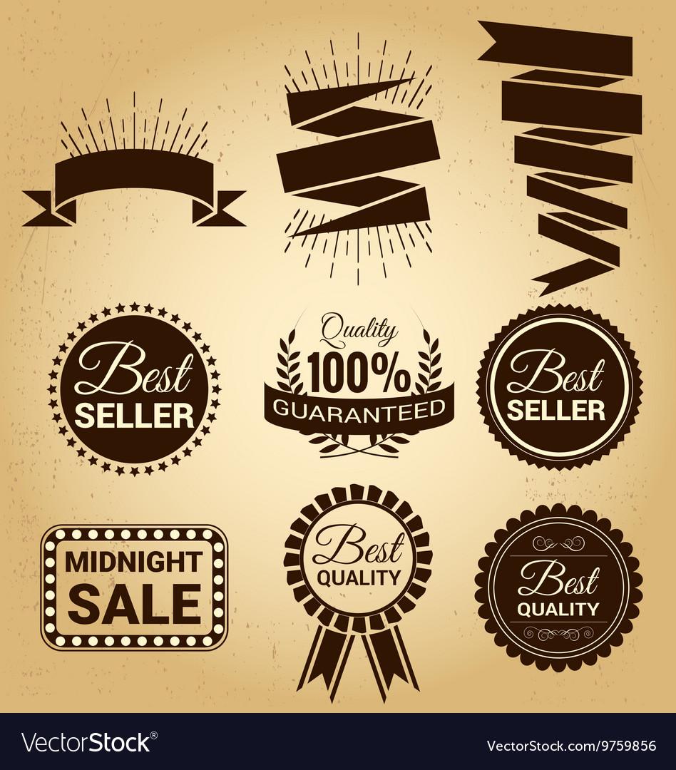 Set of labels vintage for sale concept