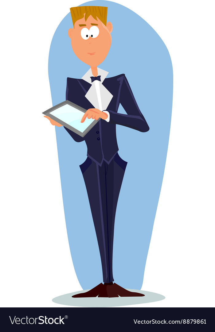 Business man cartoon character vector image