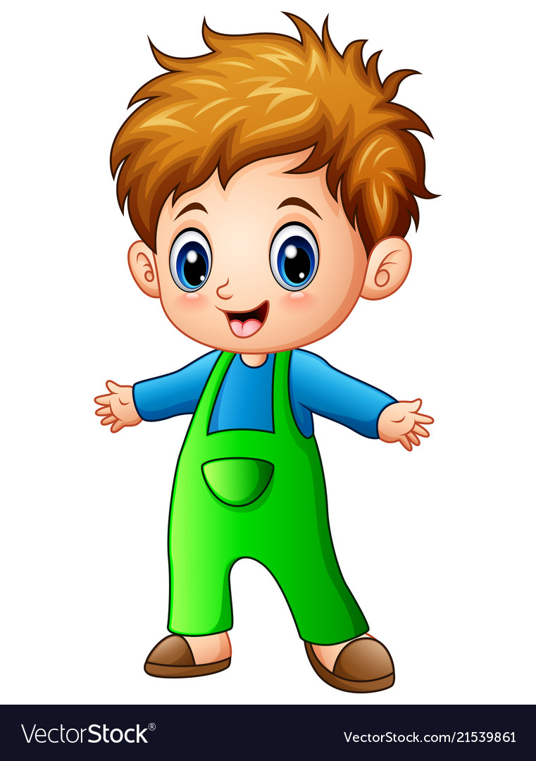 Cute Little Boy Cartoon Royalty Free Vector Image