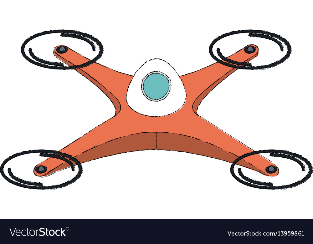 Drone technology flying isolated icon