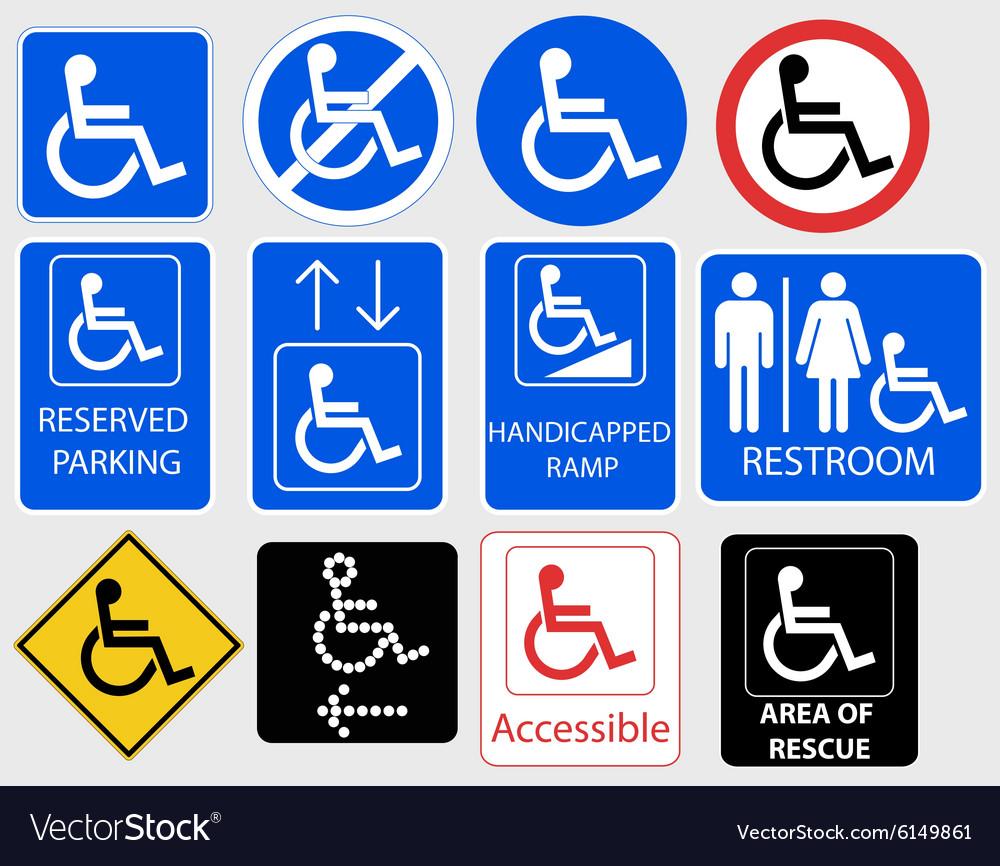 Handicap Symbol Graphic vector image