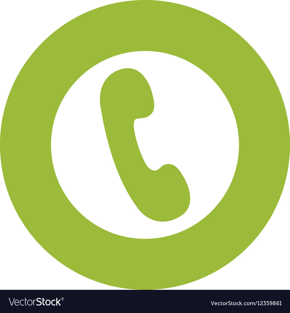 Isolated Telephone Symbol Royalty Free Vector Image