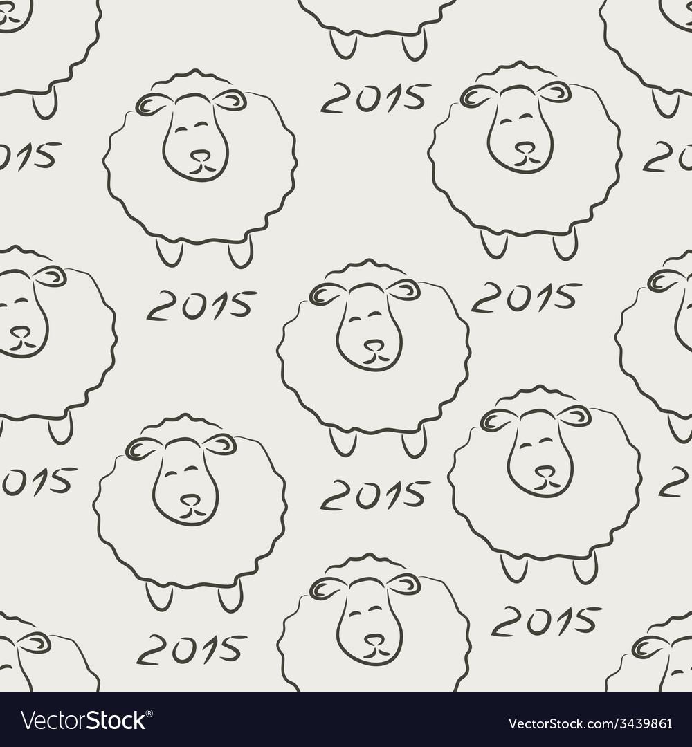 Seamless sheep sketch