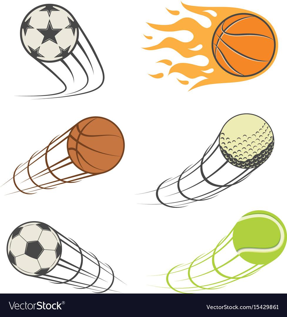 Set sports balls
