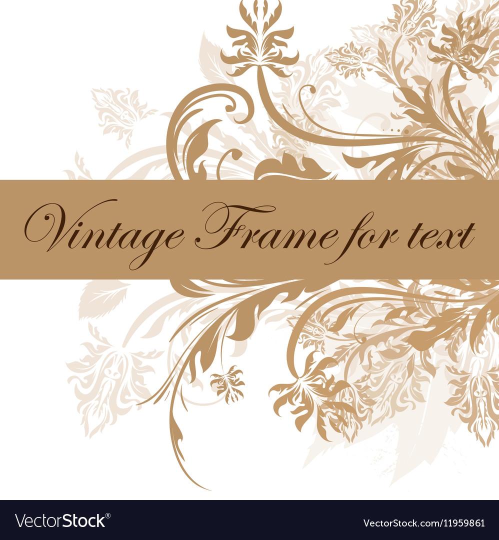 Vintage Frame for Text