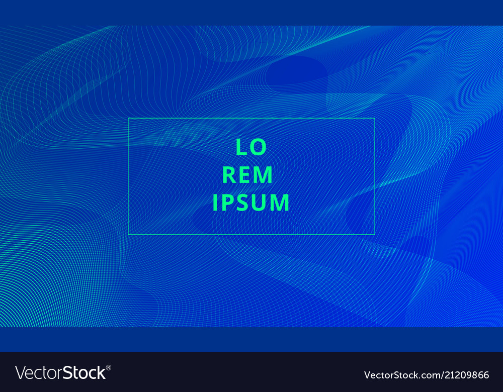 Abstract template lines pattern blend shape