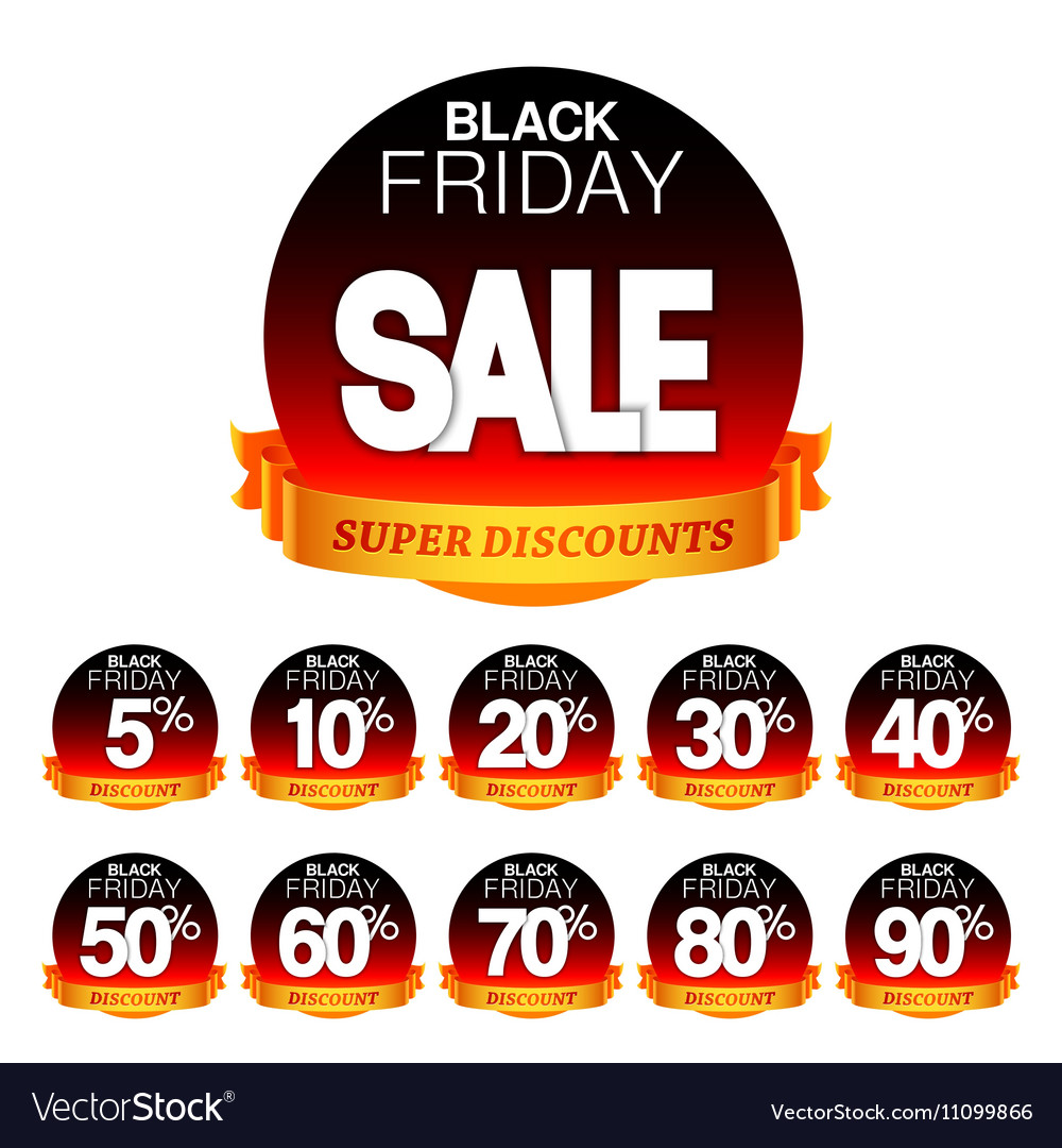 Black friday sale stickers vector image