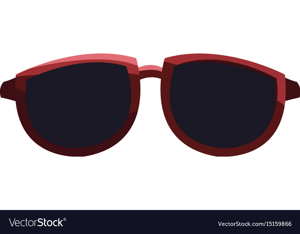 Cool black cartoon sunglasses eye frames Vector Image