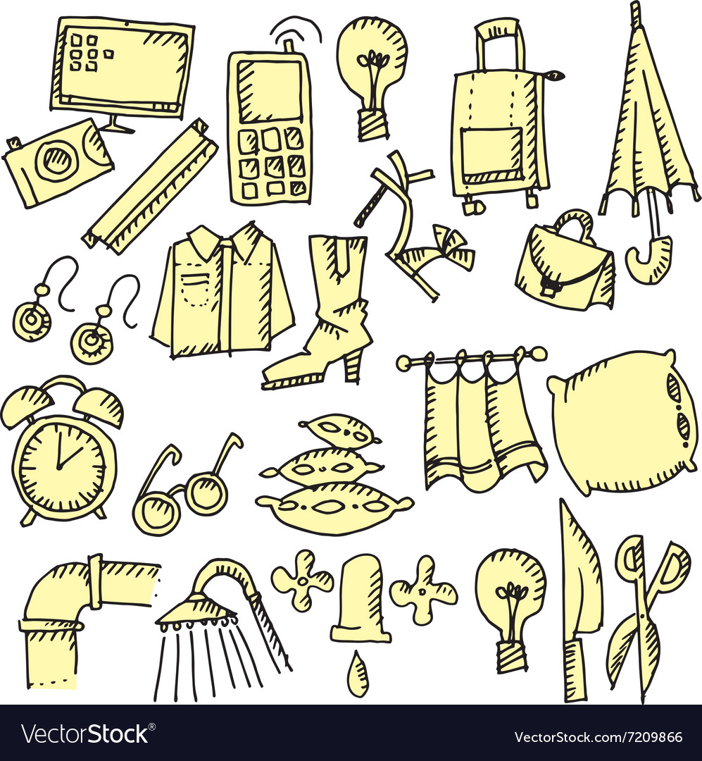 House stuff vector image