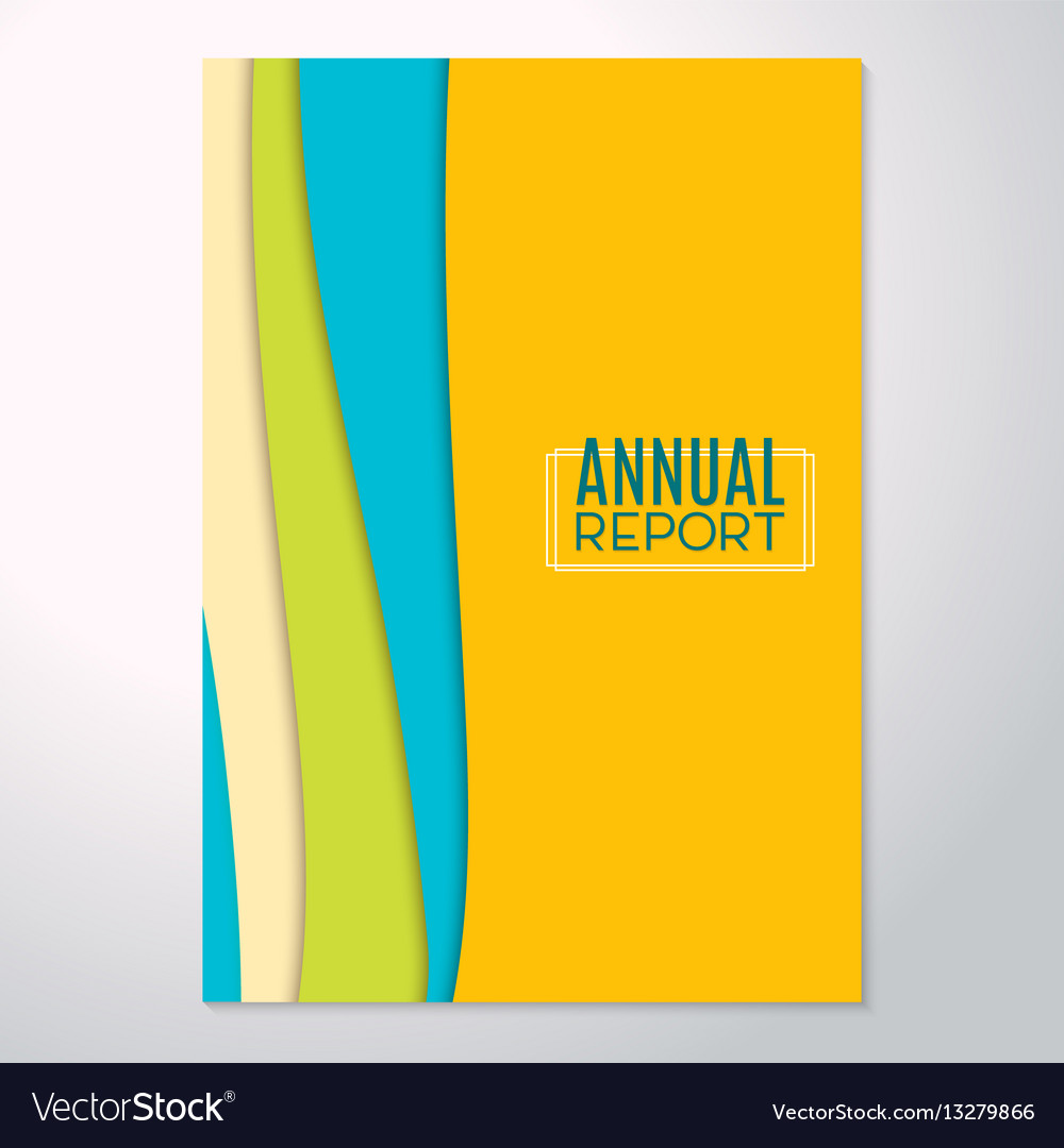 Modern abstract flyer annual report trend vector image