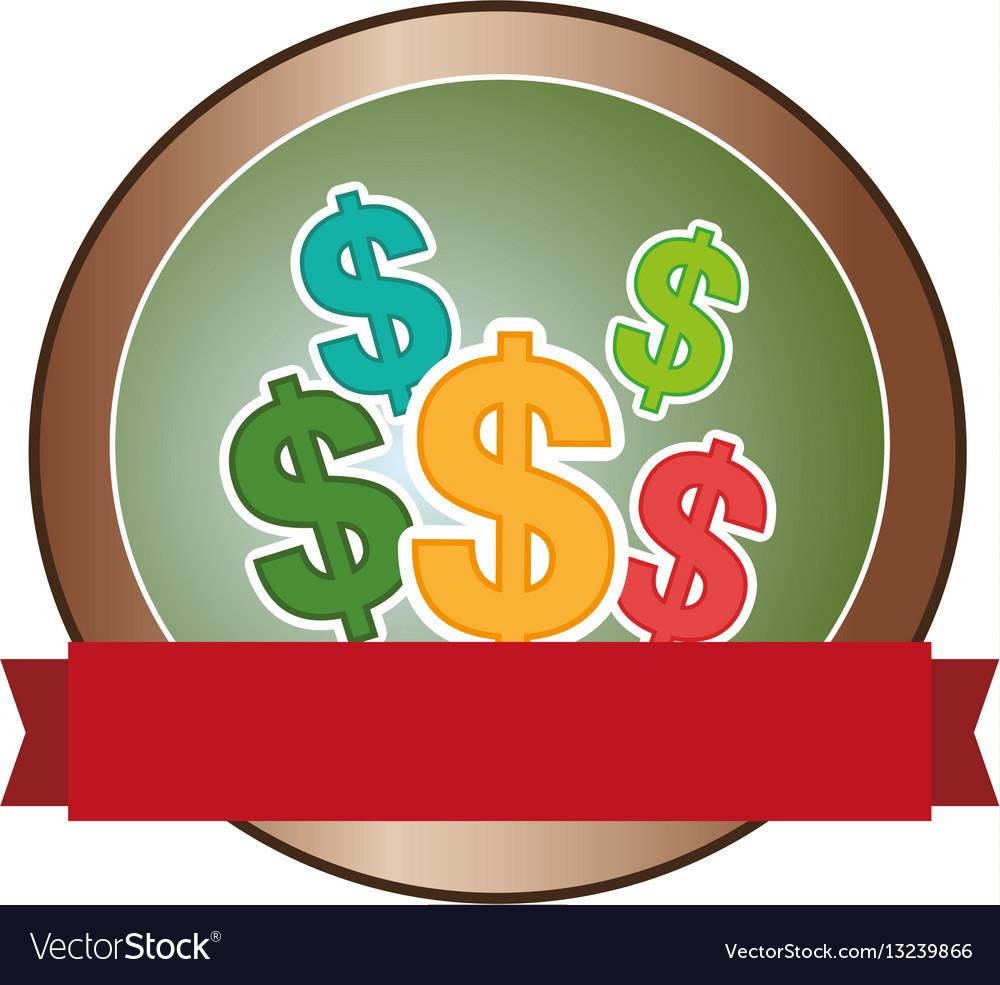 Money symbol isolated icon