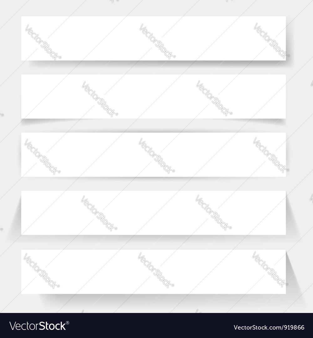 Paper board shadows vector image