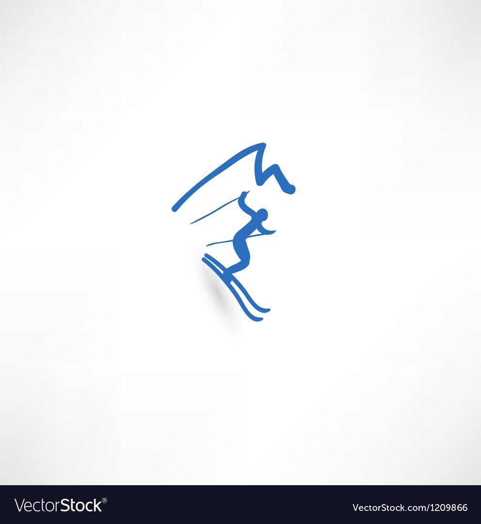 Skier Icon vector image