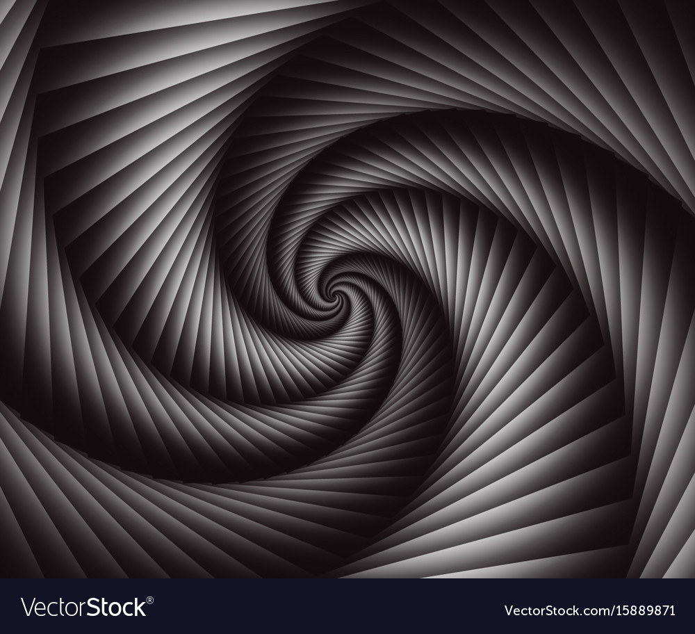 3d abstract spiral background wallpaper vector image
