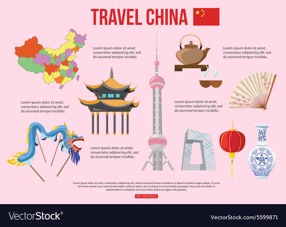 China travel background with place for text Set