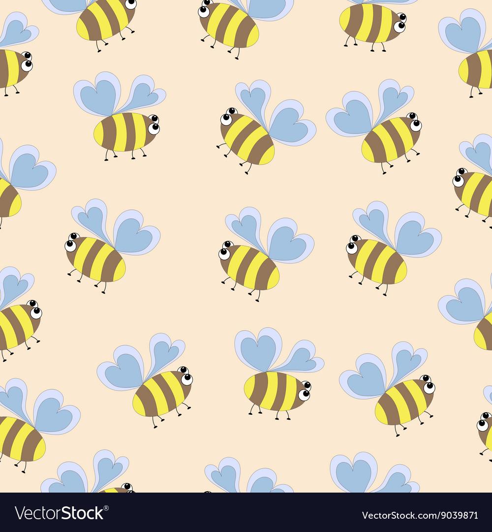 Delicate pattern bee