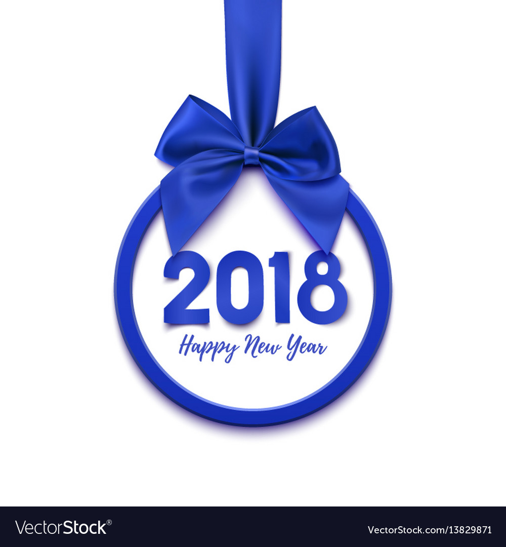 Happy new year 2018 banner