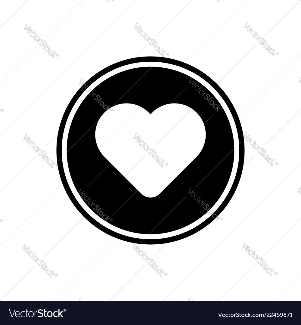 Heart round glyph icon user interface icon
