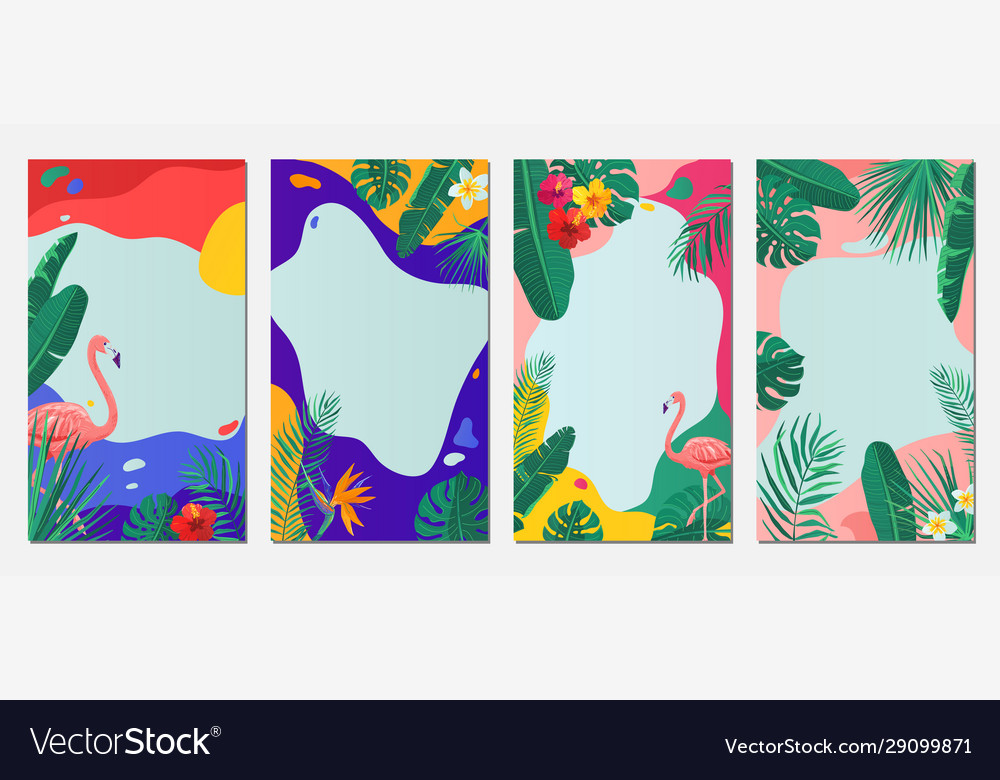 Summer abstract background set pattern
