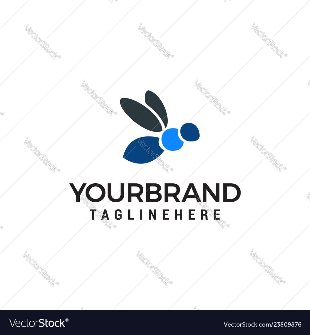 Bee honey logo design concept template