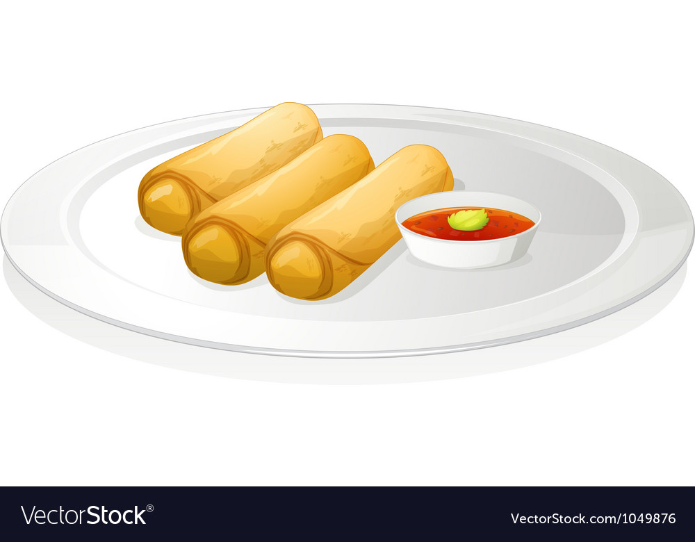 906bd8831b6b Bread roll and sauce Royalty Free Vector Image