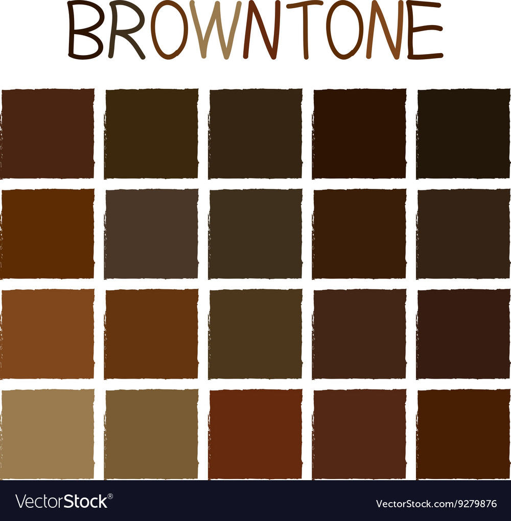 Browntone Color Tone Without Name Vector Image