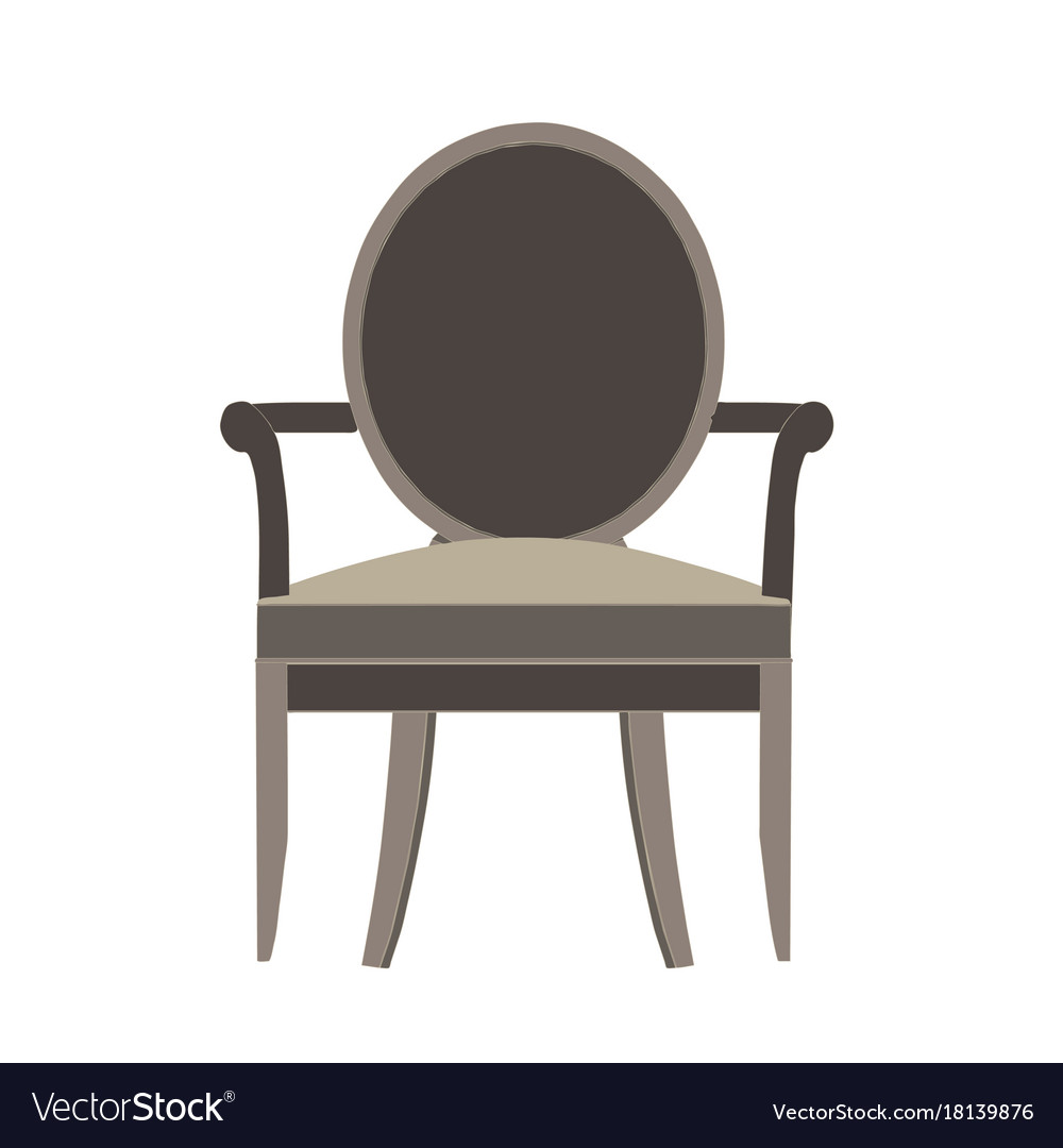 Chair icon isolated view furniture design flat