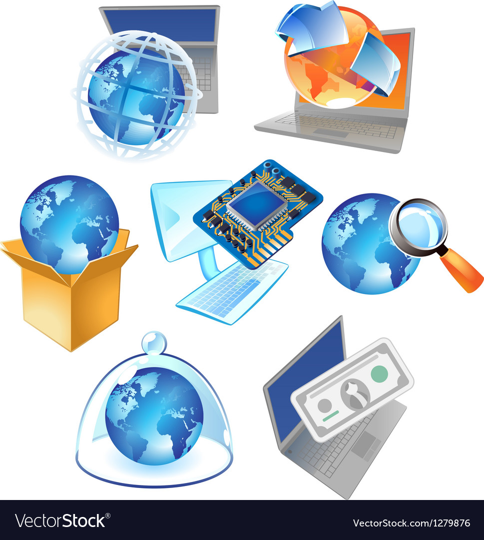 Concepts for technology vector image