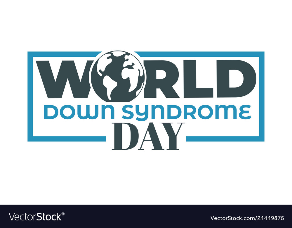 Earth planet world down syndrome day isolated icon