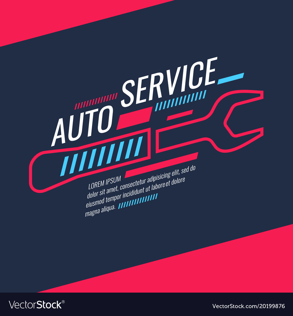 Modern auto service poster