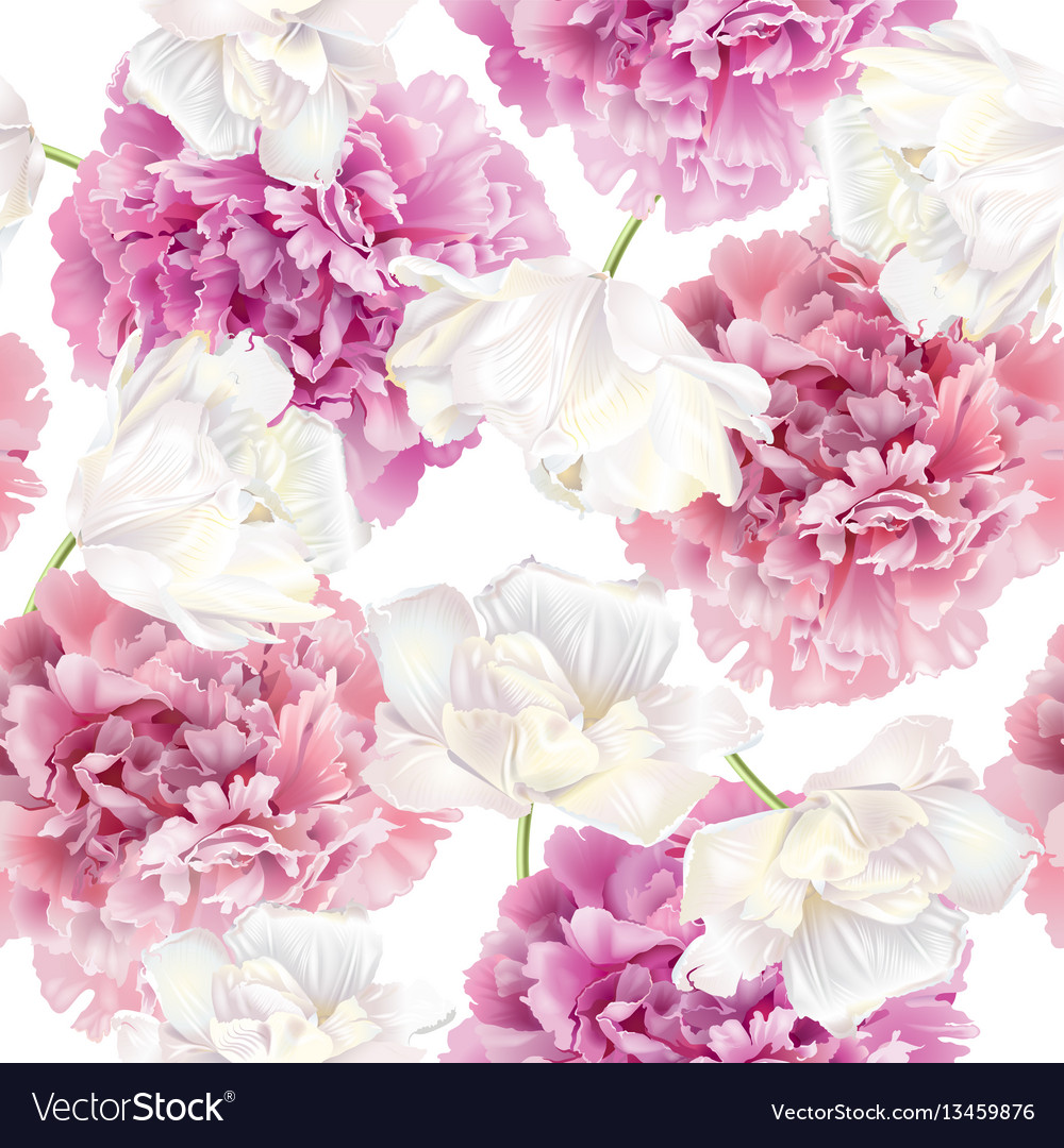 Peony tulip pattern