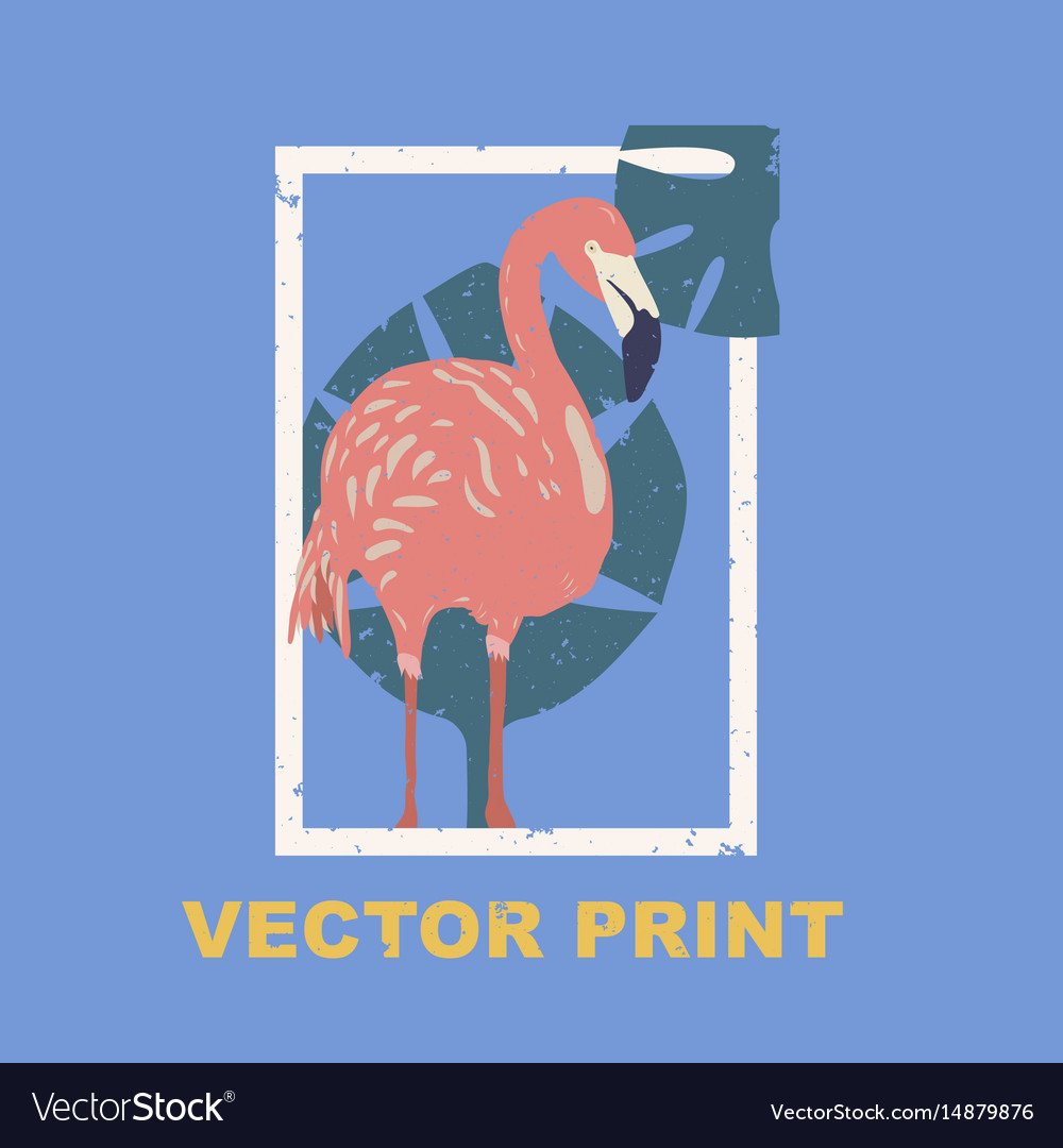 Summertime print with the flamingo