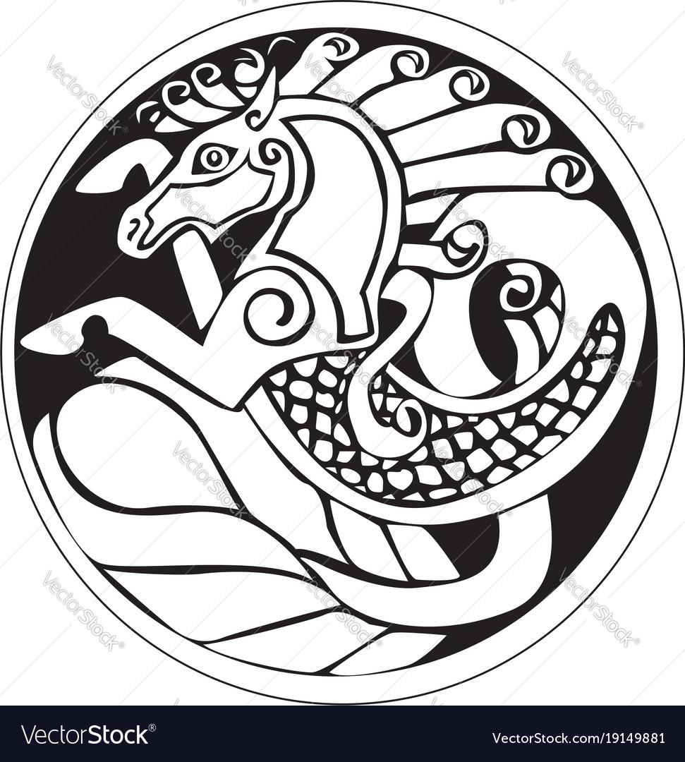 A druidic astronomical symbol of a unicorn or