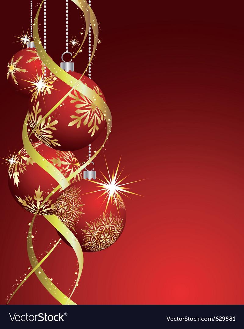 Beautiful christmas vector image