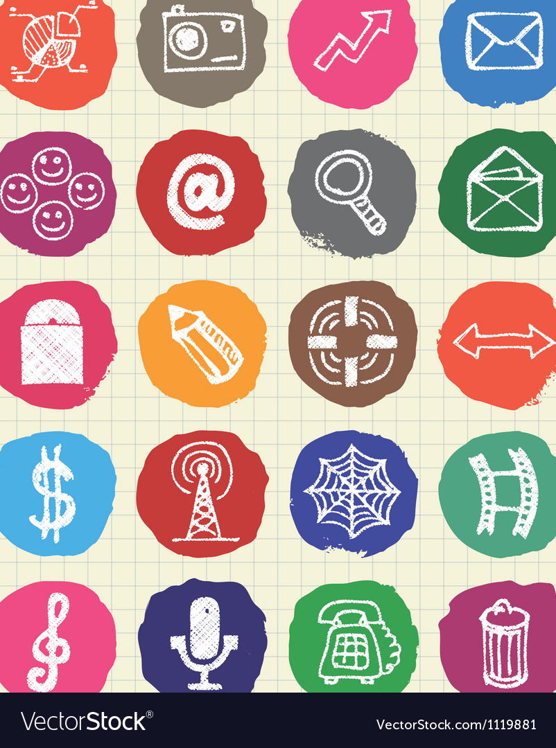 Business media and social network web icons set