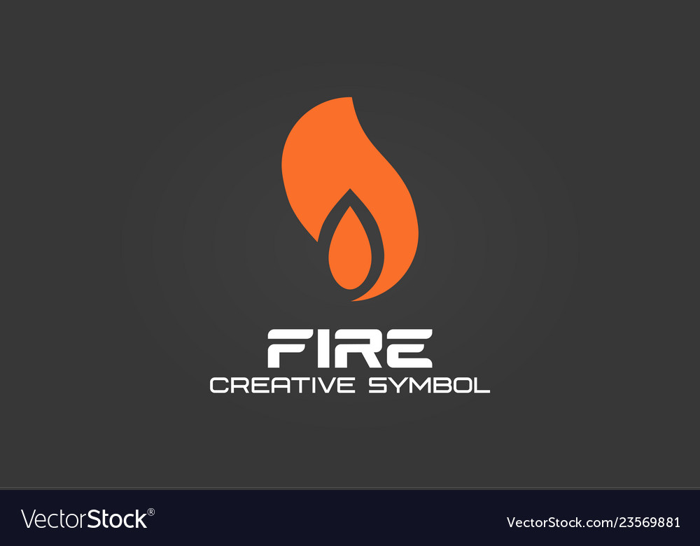 Fire creative symbol concept energy flame blaze