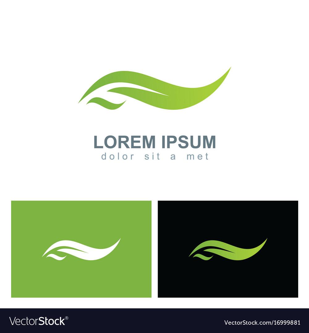 Green leaf ecology organic logo