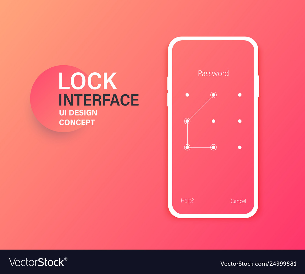 Passcode lock interface for lock screen login or