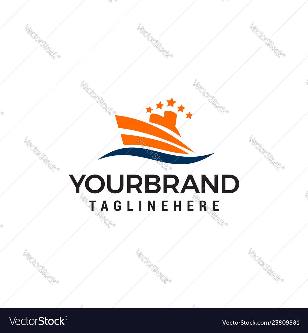 Ship logo nautical sailing boat logo design