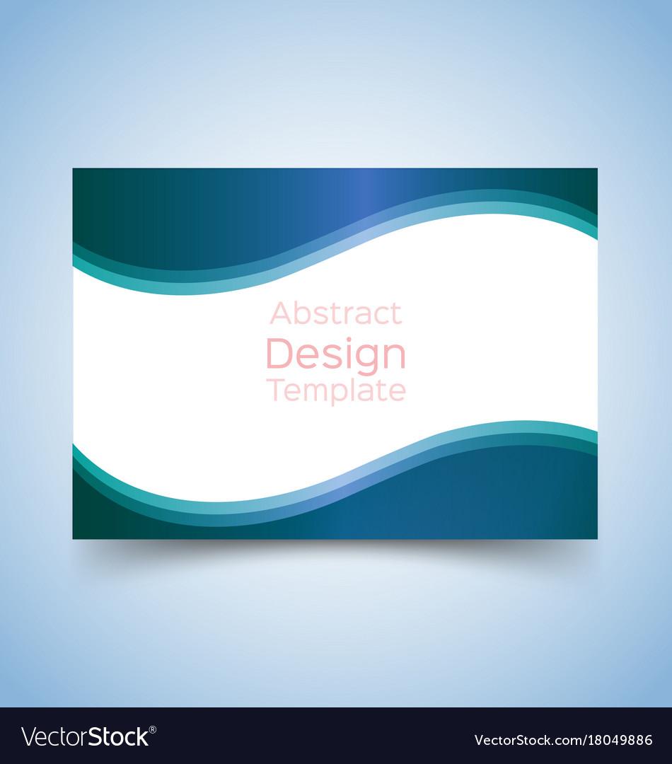 Flyer template wave design 2